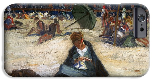 Painter Photographs iPhone Cases - WOODBURY: OGUNQUIT, c1912 iPhone Case by Granger
