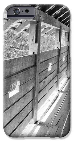 Wooden balcony iPhone Case by Gabriela Insuratelu