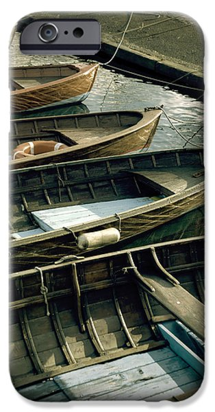 Boat Photographs iPhone Cases - Wooden Boats iPhone Case by Joana Kruse
