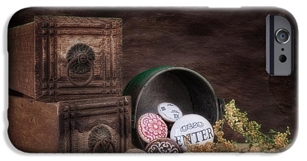 Drawers iPhone Cases - Wooden Drawers and Knobs Still Life iPhone Case by Tom Mc Nemar