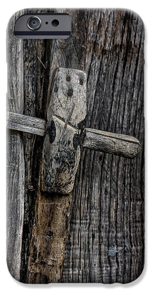 Edgar Laureano Photographs iPhone Cases - Wooden locks iPhone Case by Edgar Laureano