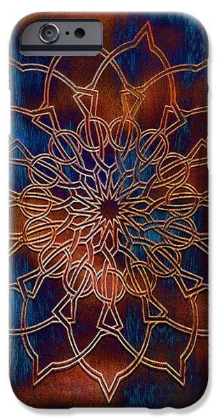 Wooden Mandala iPhone Case by Hakon Soreide