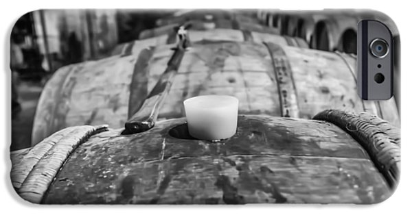 Vintage Wine Lovers Photographs iPhone Cases - Wooden Wine Barrel Row iPhone Case by Nomad Art And  Design