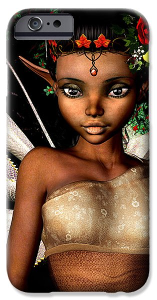 Fay iPhone Cases - Woodland Fairy  iPhone Case by Alexander Butler