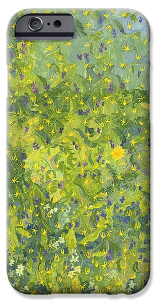 Primroses iPhone Cases - Woodland Opening iPhone Case by Leigh Glover