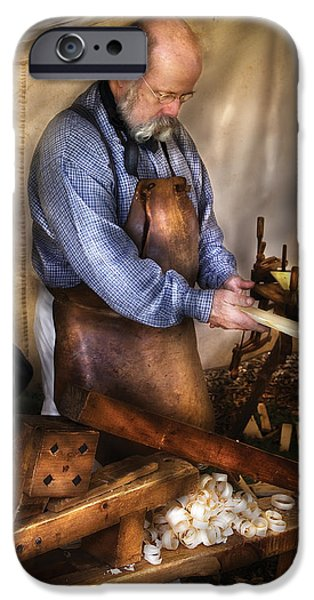 Vise iPhone Cases - Woodworker - The Carpenter iPhone Case by Mike Savad