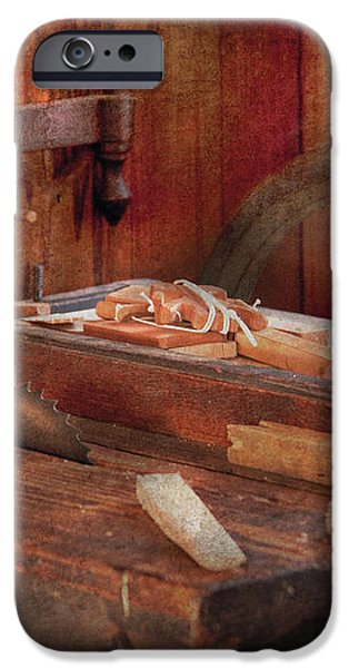 Woodworker - The Table Saw iPhone Case by Mike Savad