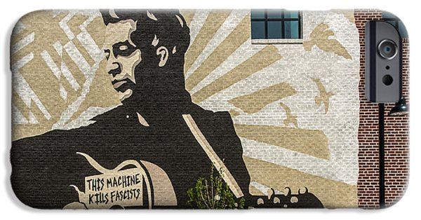 Woody Guthrie iPhone Cases - Woody Guthrie Center Tulsa Oklahoma Square iPhone Case by Roberta Peake