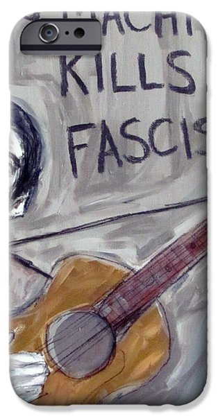 Woody Guthrie iPhone Cases - Woody Guthrie iPhone Case by Karl Haglund