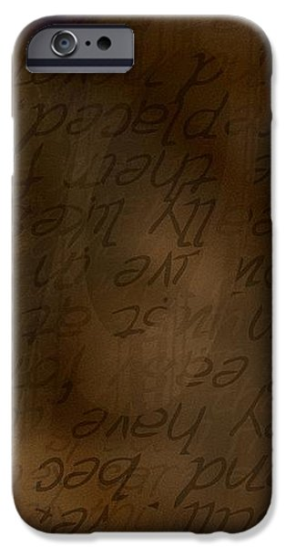 Words Winding iPhone Case by Vicki Ferrari