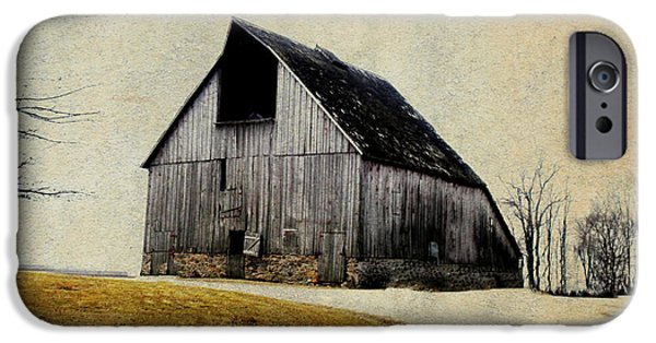 Rural Decay Digital Art iPhone Cases - Work Wanted iPhone Case by Julie Hamilton