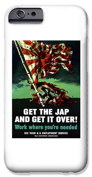 Flag iPhone Cases - Work Where Youre Needed -- WW2 iPhone Case by War Is Hell Store