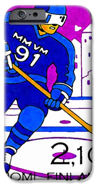 Hockey Paintings iPhone Cases - World Hockey Championships iPhone Case by Lanjee Chee