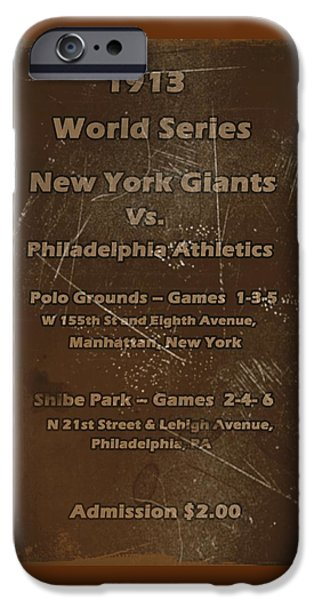 Mounds Digital iPhone Cases - World Series 1913 iPhone Case by David Dehner