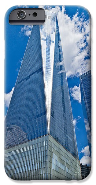 Twin Towers Nyc iPhone Cases - World Trade Center iPhone Case by John Waclo