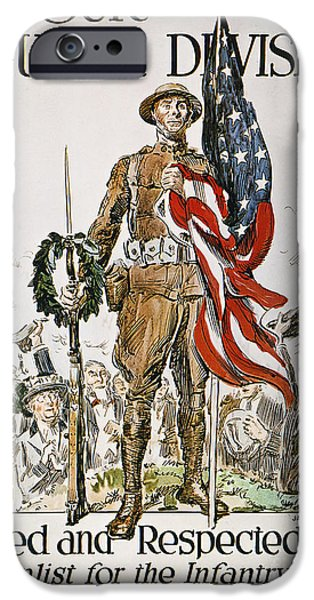 Old Glory iPhone Cases - World War I: U.s. Army iPhone Case by Granger