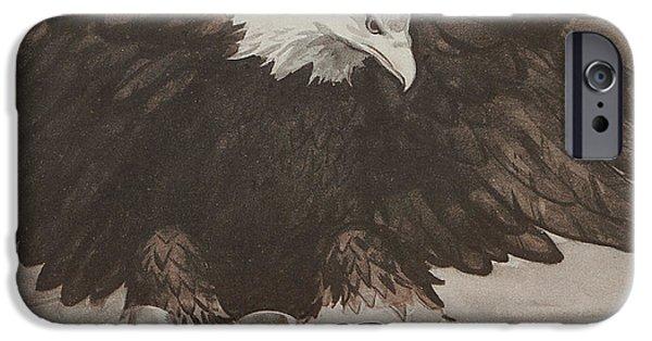 Birds Drawings iPhone Cases - World War II Advertisement iPhone Case by American School