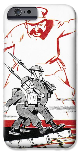 Recently Sold -  - Franklin iPhone Cases - World War Ii: Cartoon, 1944 iPhone Case by Granger