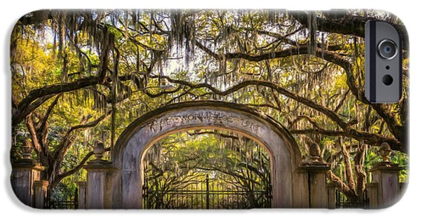 Historic Site iPhone Cases - Wormsloe Plantation iPhone Case by Joan Carroll