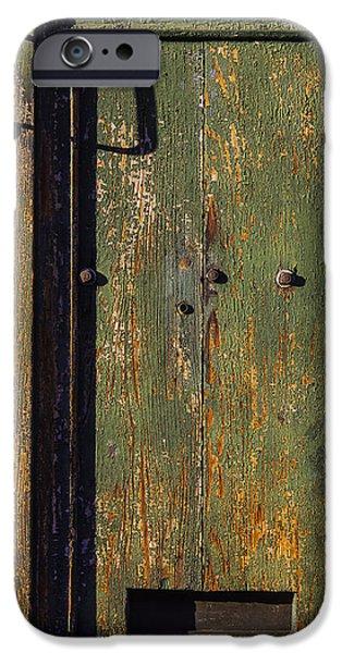Building iPhone Cases - Worn Green Door iPhone Case by Garry Gay