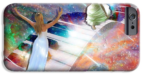 Piano iPhone Cases - Worship in spirit and in Truth iPhone Case by Dolores Develde