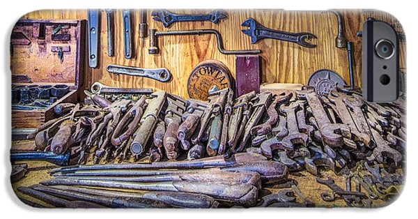 Antiques iPhone Cases - Wrenches Galore iPhone Case by Debra and Dave Vanderlaan