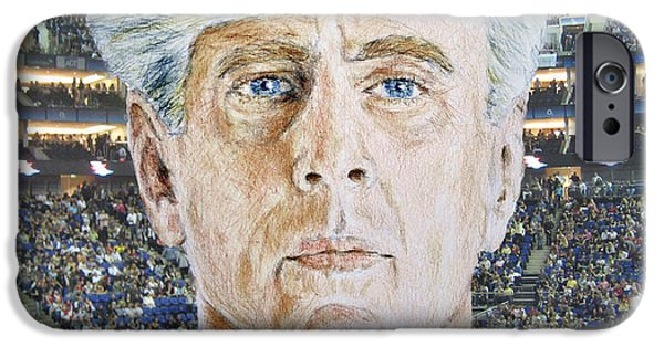 Dirty Drawings iPhone Cases - Wrestling Legend Ric Flair iPhone Case by Jim Fitzpatrick