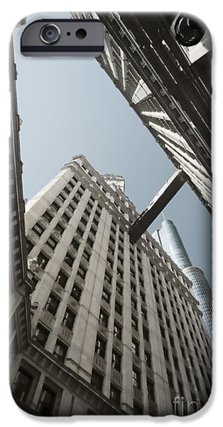 City. Boston iPhone Cases - Wrigley Building and Trump Tower Chicago iPhone Case by Dani Prints and Images
