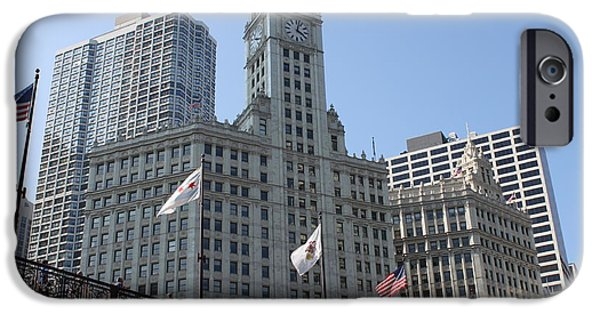 River View iPhone Cases - Wrigley Building Chicago iPhone Case by Lauri Novak