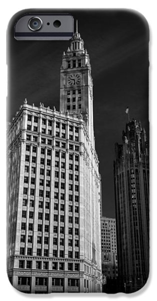 Wrigley iPhone Cases - Wrigley Building Chicago iPhone Case by Mike Burgquist