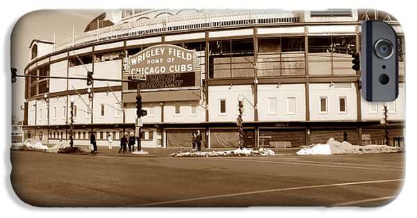 Chicago Cubs iPhone Cases - Wrigley Field iPhone Case by David Bearden