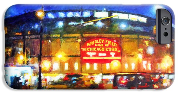 Wrigley Field iPhone Cases - Wrigley Field Home of Chicago Cubs iPhone Case by Michael Durst