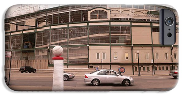Wrigley Field iPhone Cases - Wrigley on Clark iPhone Case by David Bearden