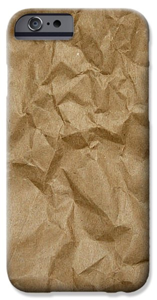 Sheets iPhone Cases - Wrinkled Paper Texture in Brown Color iPhone Case by Jelena Ciric