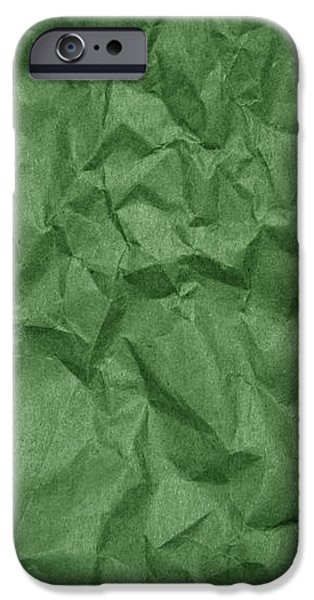 Sheets iPhone Cases - Wrinkled Paper Texture in Green Color iPhone Case by Jelena Ciric