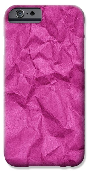 Sheets iPhone Cases - Wrinkled Paper Texture in Pink Color iPhone Case by Jelena Ciric