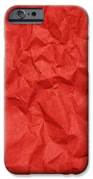 Sheets iPhone Cases - Wrinkled Paper Texture in Red Color iPhone Case by Jelena Ciric