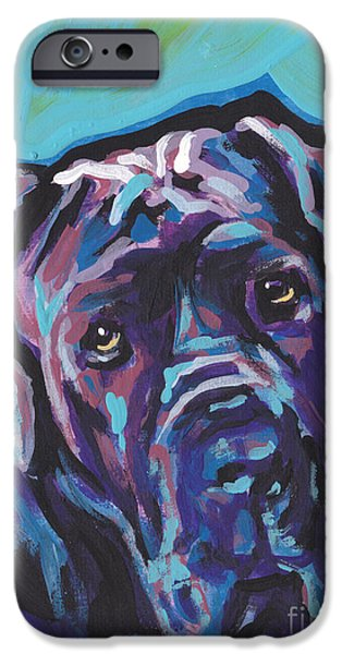 Mastiff Dog iPhone Cases - Wrinkly Neo iPhone Case by Lea