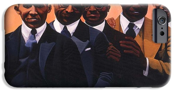 Franklin iPhone Cases - Writers on the Roof iPhone Case by Joyce Owens