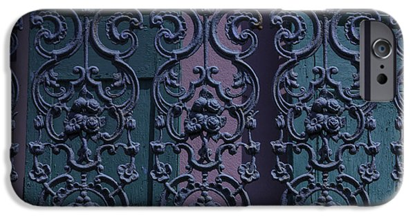 Balcony iPhone Cases - Wrought Iron Railings iPhone Case by Garry Gay