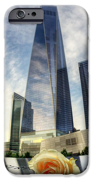 Twin Towers Nyc iPhone Cases - Wtc 002 iPhone Case by Jeff Stallard