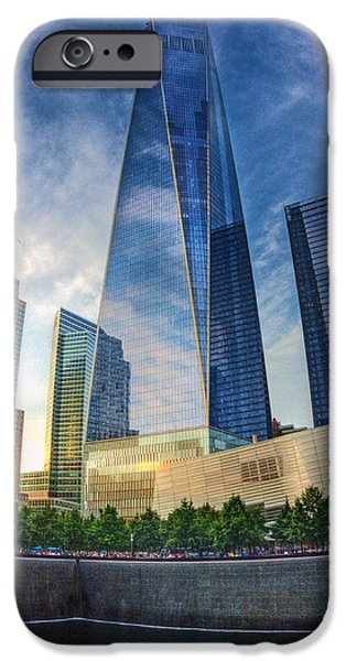 Twin Towers Nyc iPhone Cases - Wtc 004 iPhone Case by Jeff Stallard