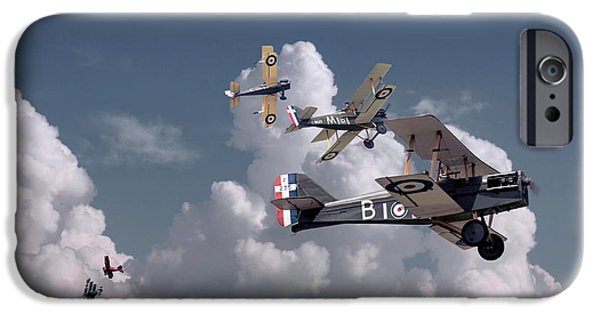 Triplane iPhone Cases - WW1 - SE5 - Up Sun iPhone Case by Pat Speirs