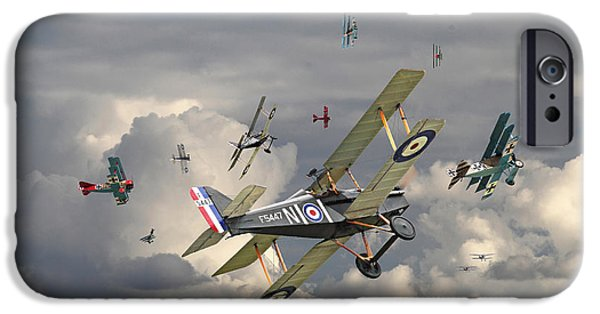 Triplane iPhone Cases - WW1 - Wings iPhone Case by Pat Speirs