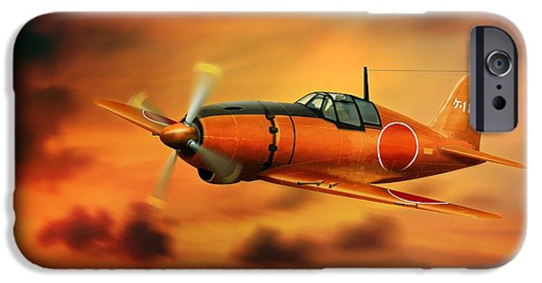 Will Power iPhone Cases - WW2 Imperial Japanese Fighter J2M3 Raiden iPhone Case by John Wills
