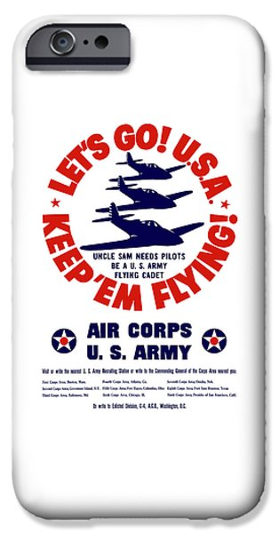 Air iPhone Cases - WW2 US Army Air Corps iPhone Case by War Is Hell Store