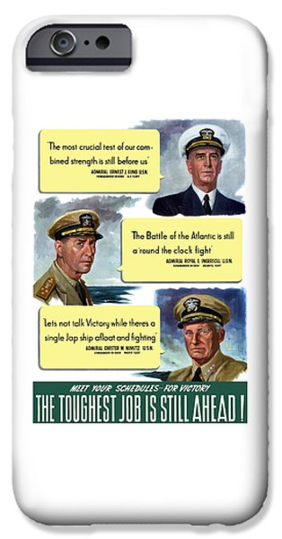 Us Navy iPhone Cases - WW2 US Navy Admirals iPhone Case by War Is Hell Store