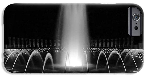 Ww Ii iPhone Cases - WWII Memorial Fountain 1 iPhone Case by Paul Basile
