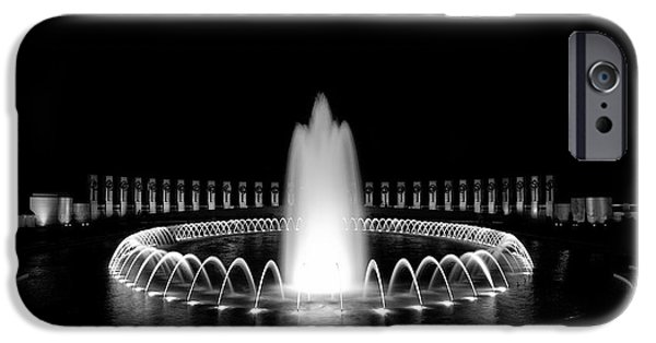 Ww Ii iPhone Cases - WWII Memorial Fountain 2 iPhone Case by Paul Basile
