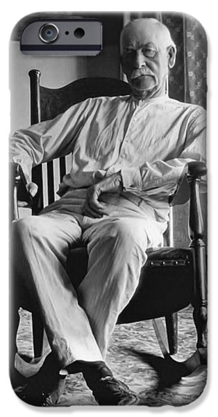 Officers iPhone Cases - Wyatt Earp 1923 - Los Angeles iPhone Case by Daniel Hagerman